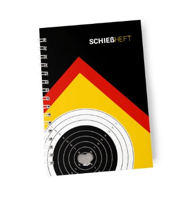 Cover of german Shooting Notes Schießheft shooting diary in black