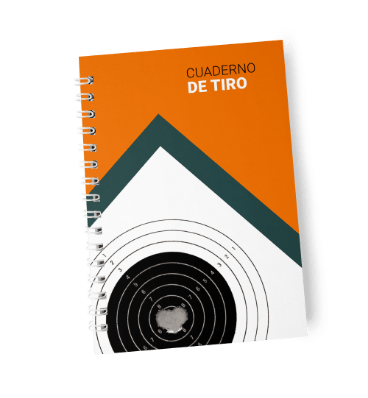 Cover of the spanish shooting notes notebook Cuaderno de Tiro