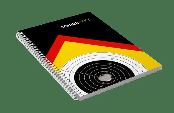 Schießheft black Shooting notes shooting diary in German