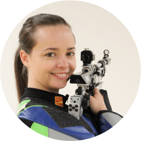 Živa Dvoršak with the Rifle